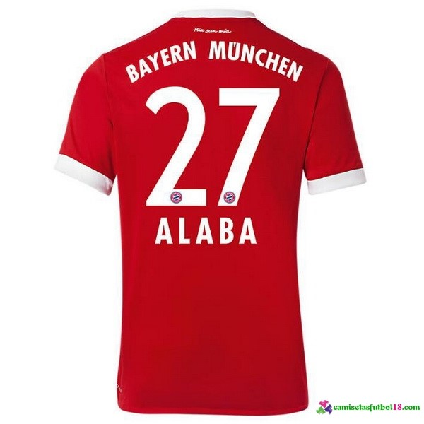 Alaba Camiseta 1ª Kit Bayern Munich 2017 2018